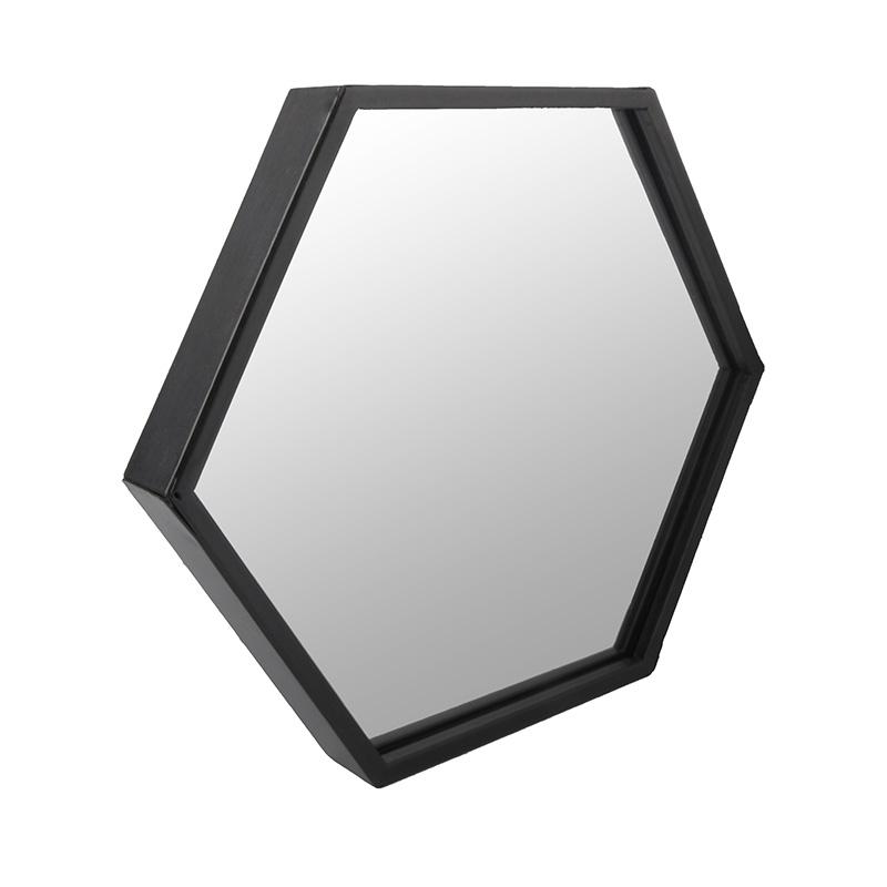 Wandspiegel von DéKoala eckiger Spiegel Rahmen schwarz