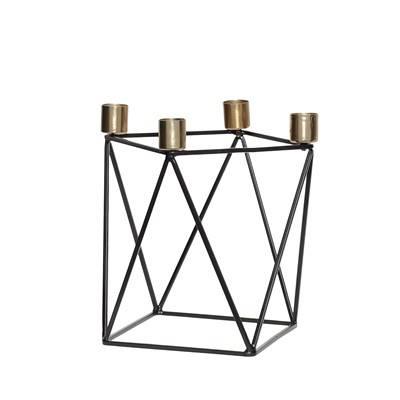 Kerzenständer aus Metall Schwarz/Messing bei DéKoala