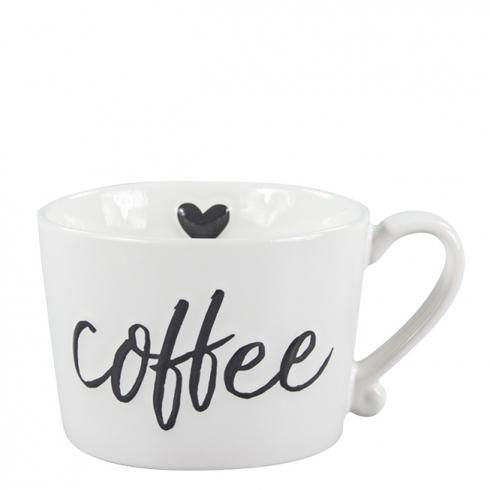 Bastion Collections BC Kaffee Tasse weiß mit Herz und Schriftzug coffee bei Dékoala