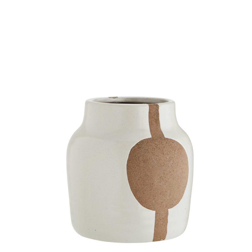 Stoneware Vase weiß von DéKoala