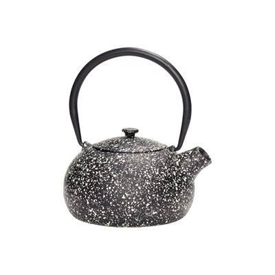 Hübsch Interior Teekanne schwarz weiß DéKoala