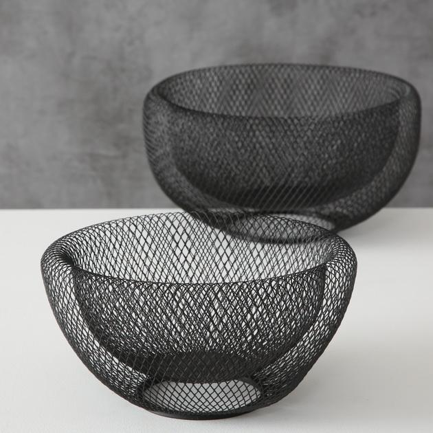 Deko Schale Obstschale aus Draht (Eisen) in schwarz DéKoala