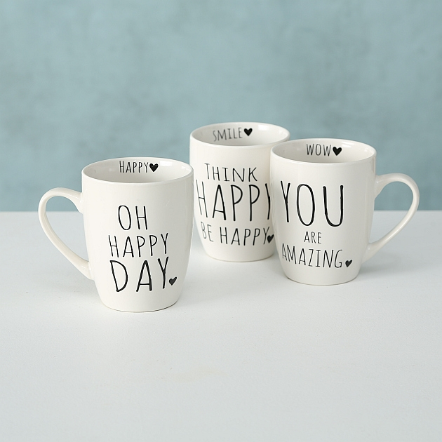 "Tasse ""You are Amazing"" Think happy be Happy"