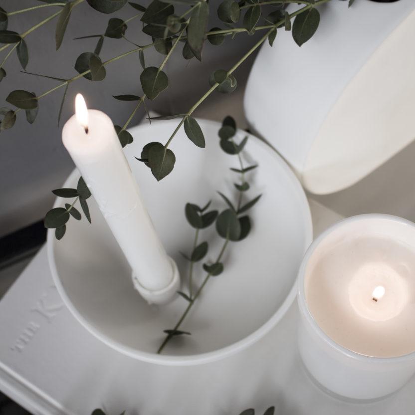 Storefactory Kerzenhalter Lidatorp weiß klein
