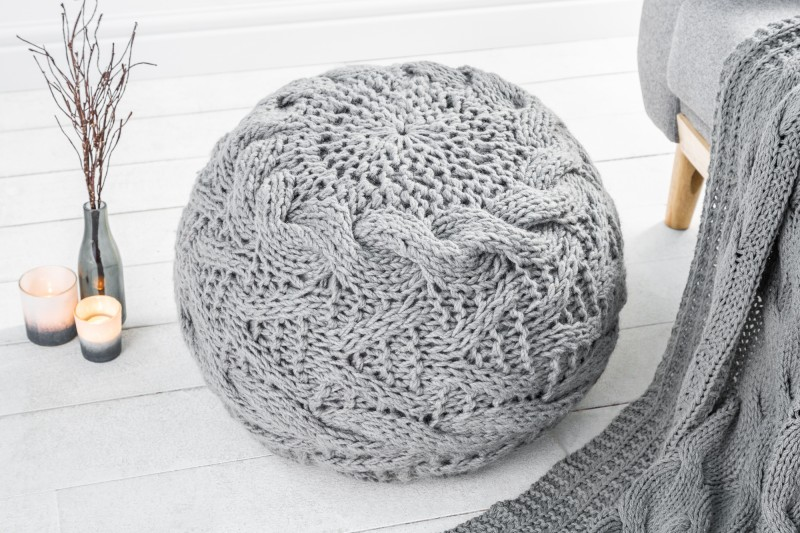 Sitzpouf Invicta aus Baumwolle DéKoala