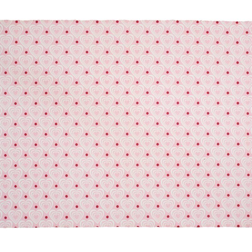 Krasilnikoff Tischset gerippt in rosa/rot