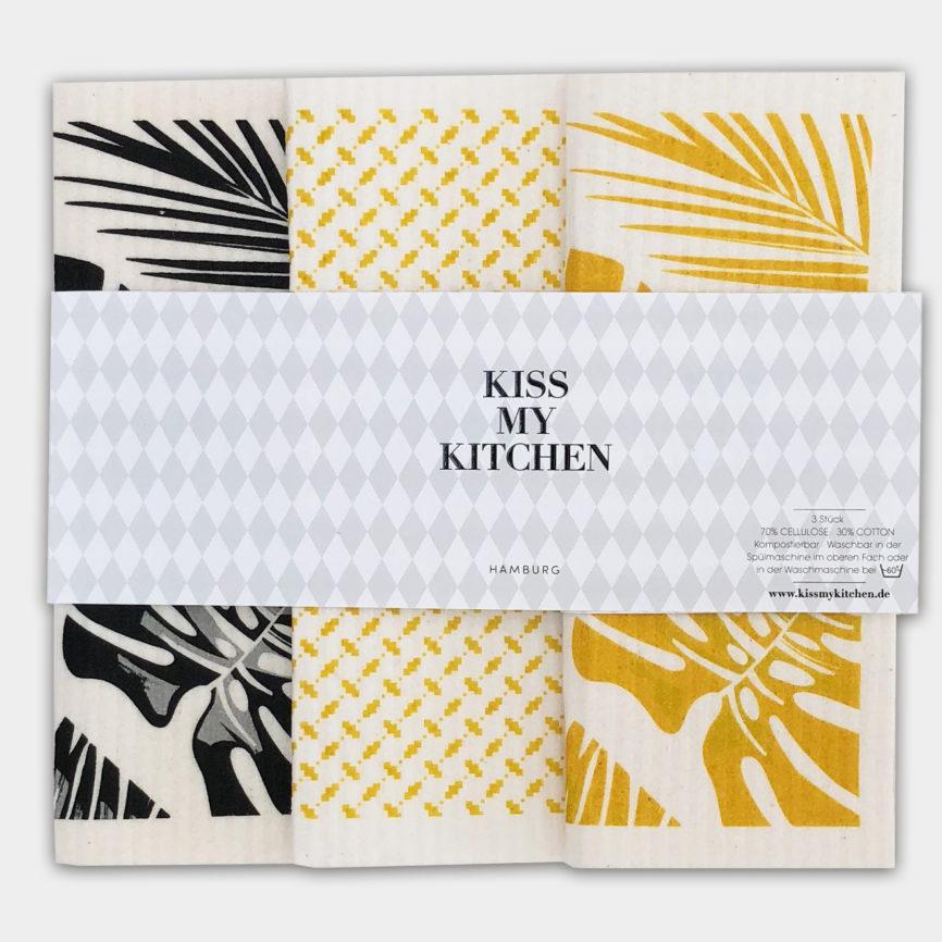 Kiss my kitchen schwammtücher 3er set Malibu