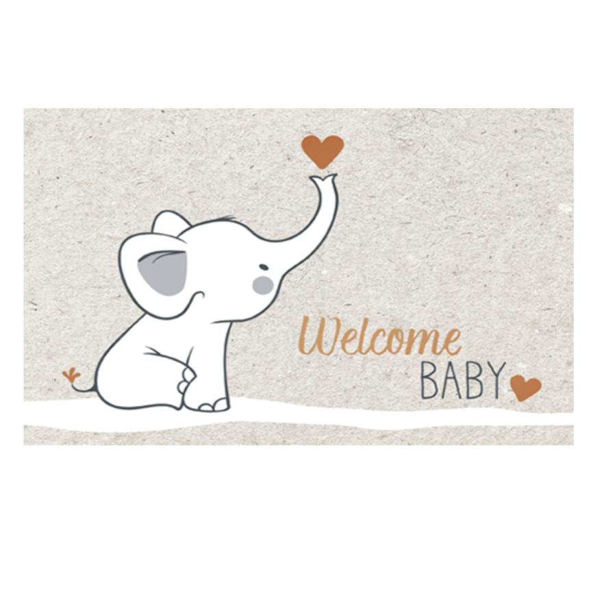 Umschlagkarte welcome baby