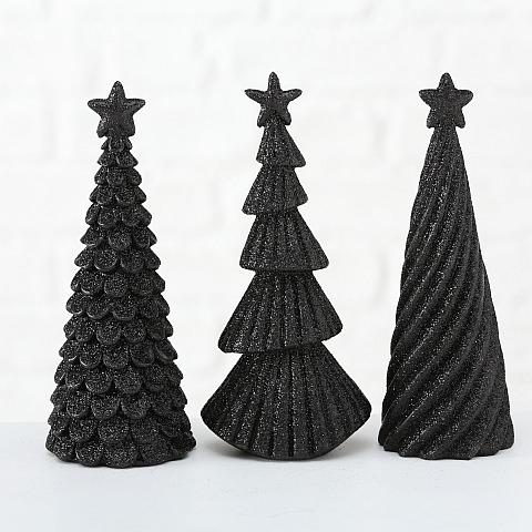 Tannenbäume boltze schwarz/glitzer
