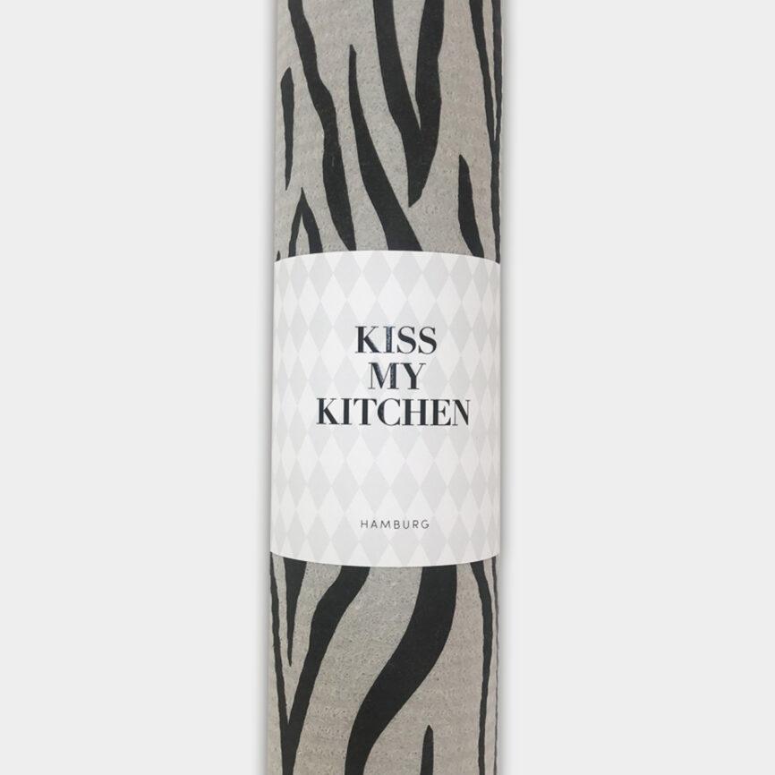Kiss my Kitchen wild grey schwammtuchrolle