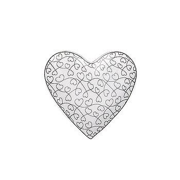 Krasilnikoff Tablett Heart Jumble