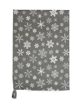 Krasilnikoff Geschirrtuch Snowflakes in braun/weiss