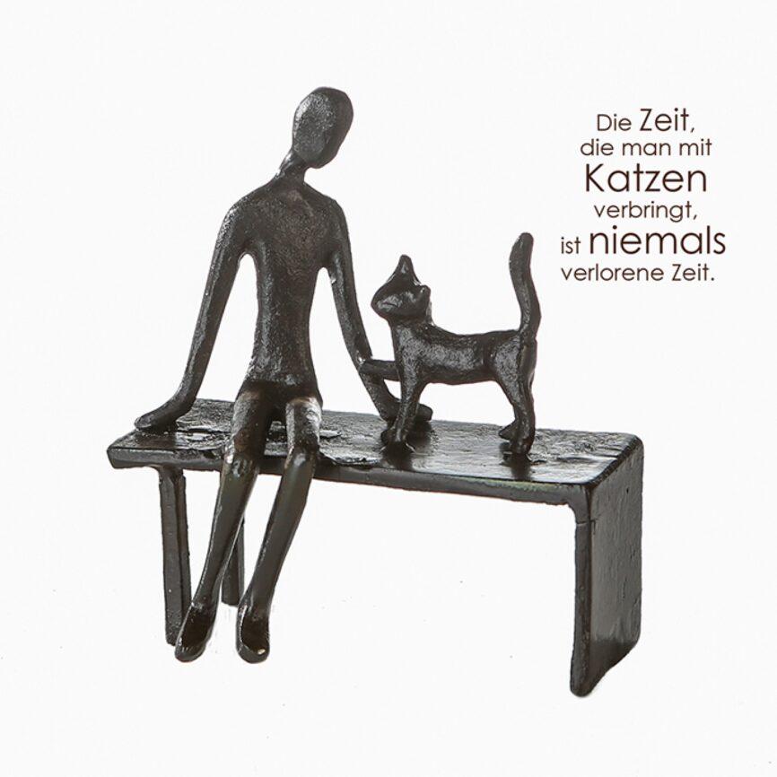Design Skulptur Katze