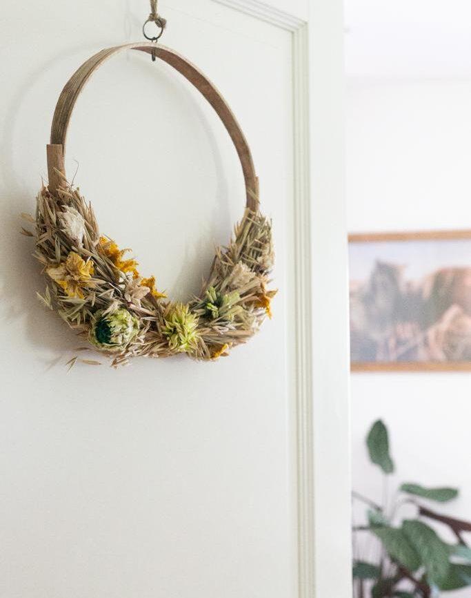 trockenblumenring