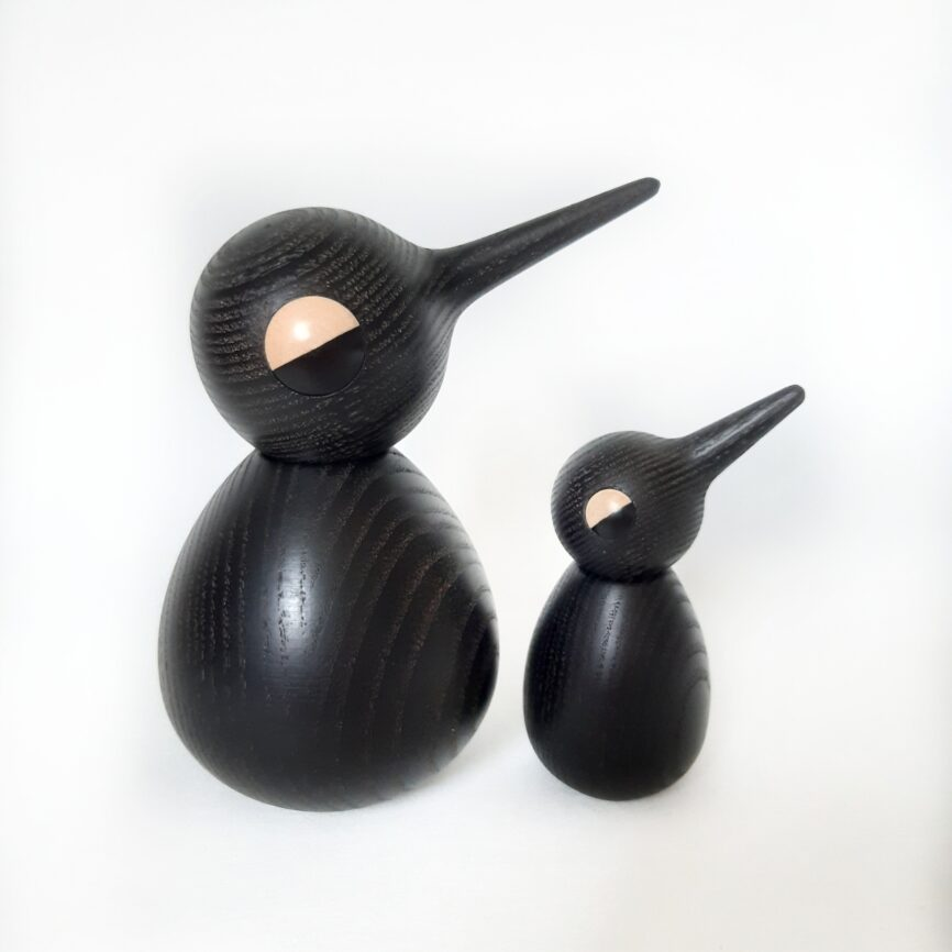 Holz Vogel schwarz