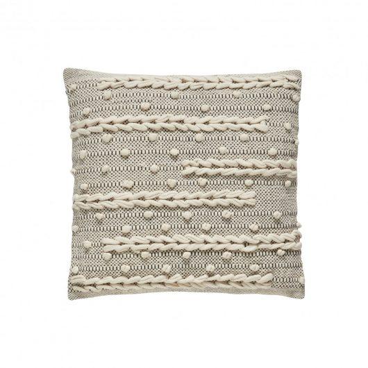 Hübsch Interior Kissen weiß/grau