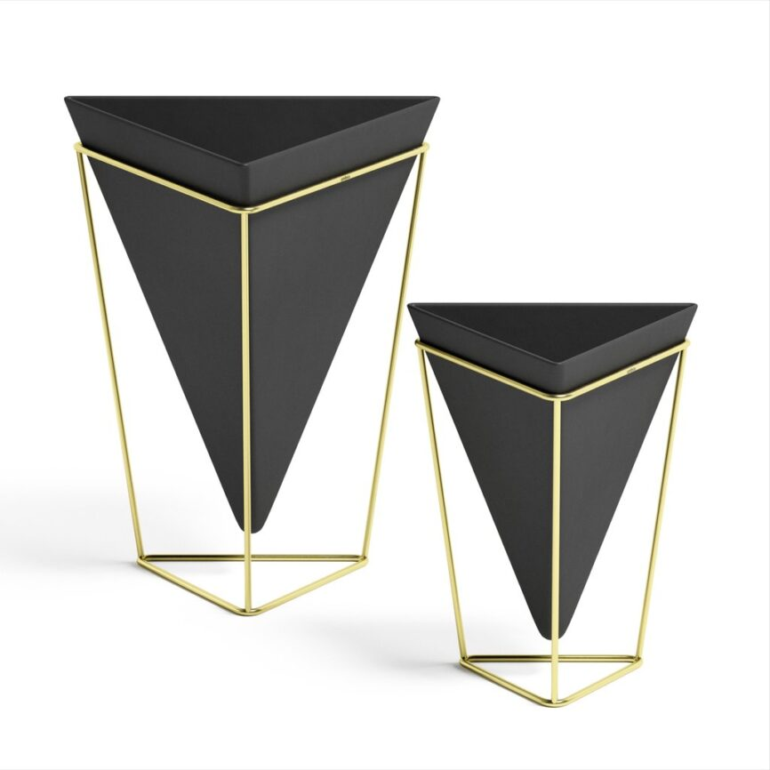 Umbra Trigg tabletop planter schwarz