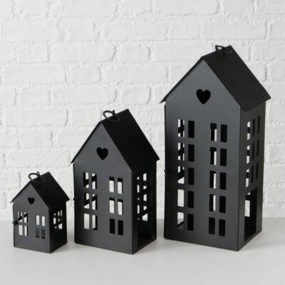 Boltze windlicht Haus schwarz