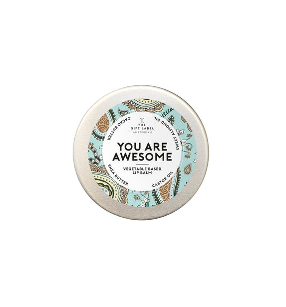 The Gift Label LIP BALM 15ML YOU ARE AWESOME