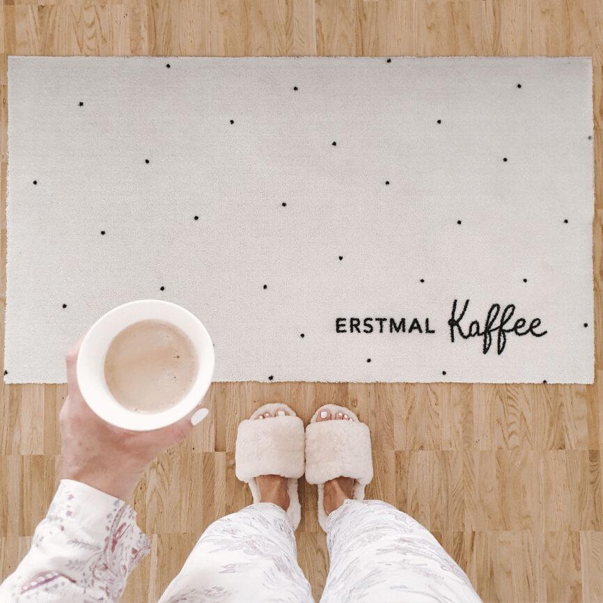 Küchenteppich Eulenschnitt erstmal kaffee