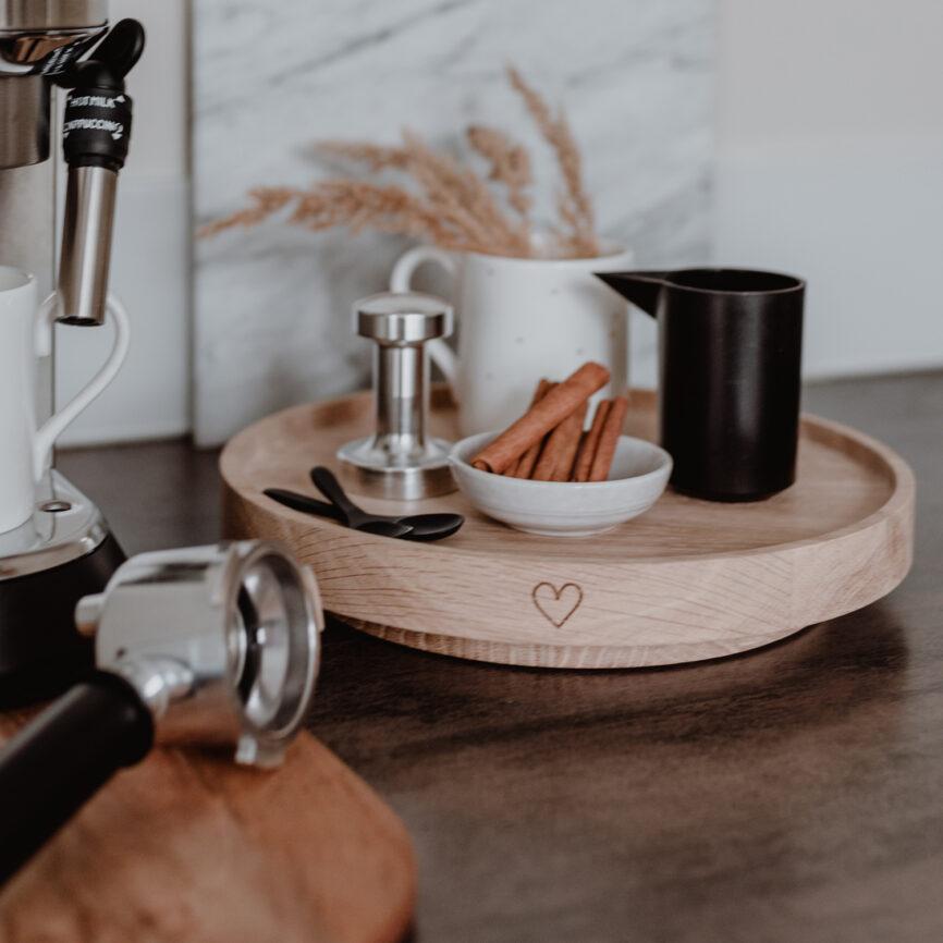 Eulenschnitt Drehteller Holz