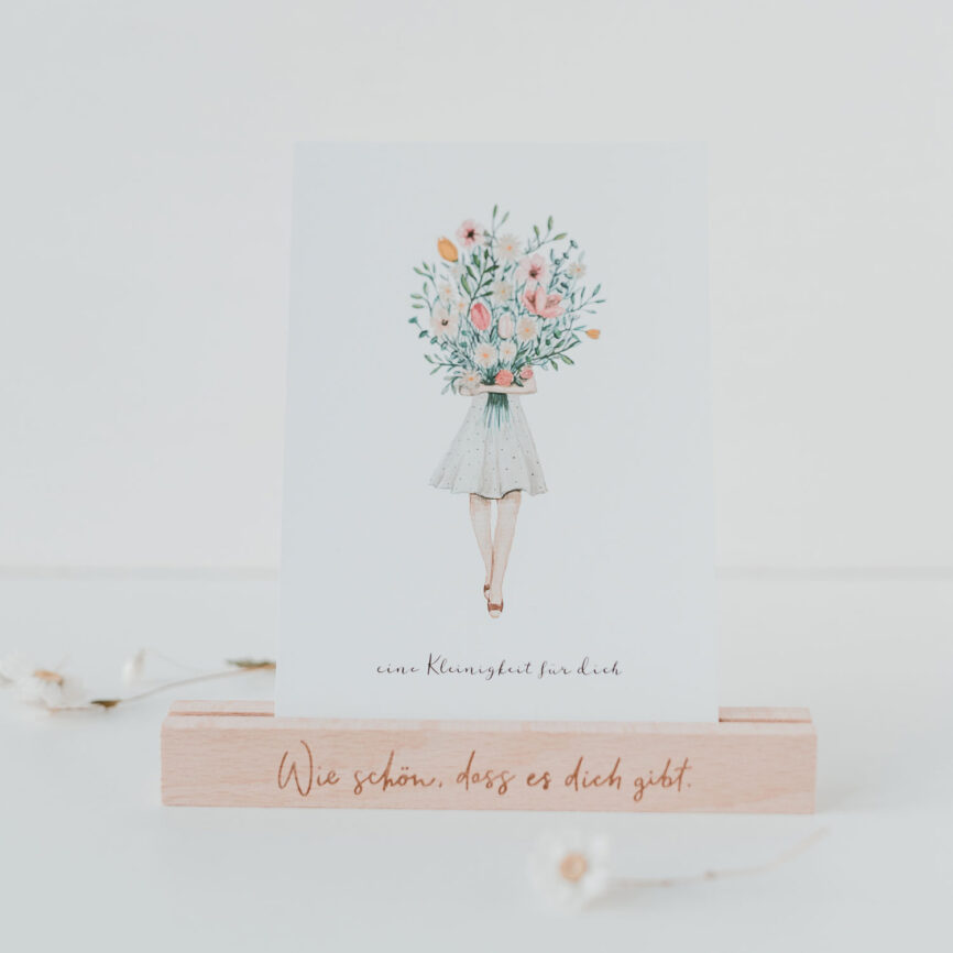 Eulenschnitt Kartenständer Holz wie schön