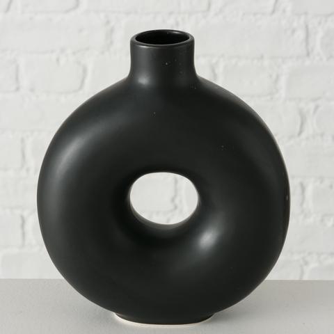 Vase Lanyo Schwarz Boltze