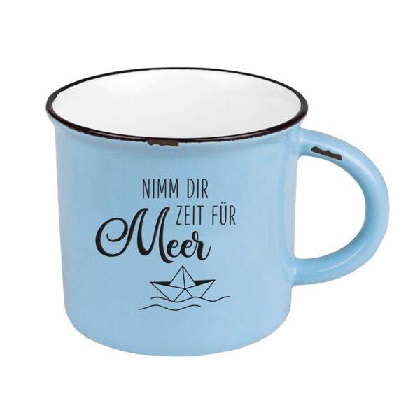 Grafik Werkstatt Tasse Nimm dir Zeit für Meer