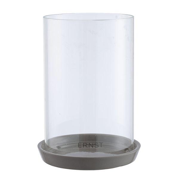 Ernst Laterne mit Glaszylinder grau
