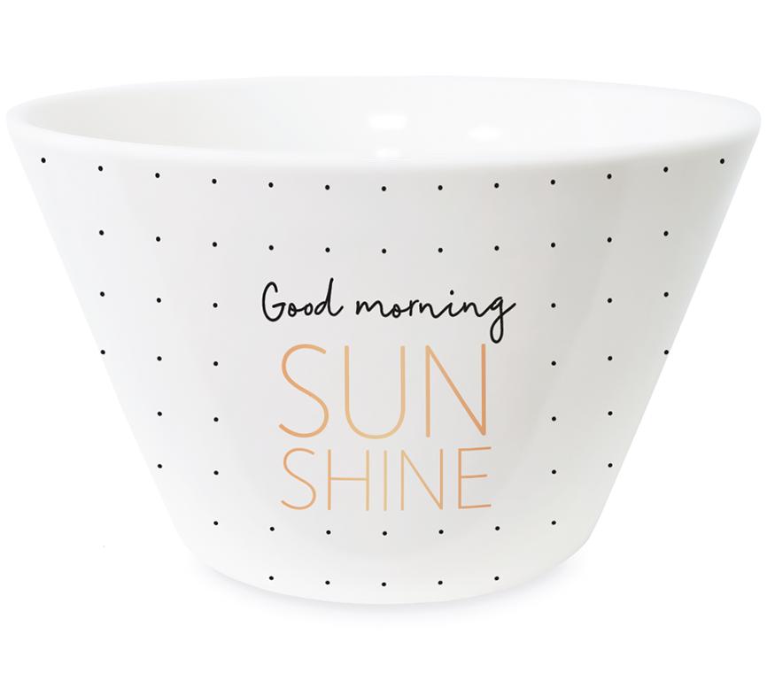 Grafik Werkstatt Müsli Schale Good Morning Sunshine