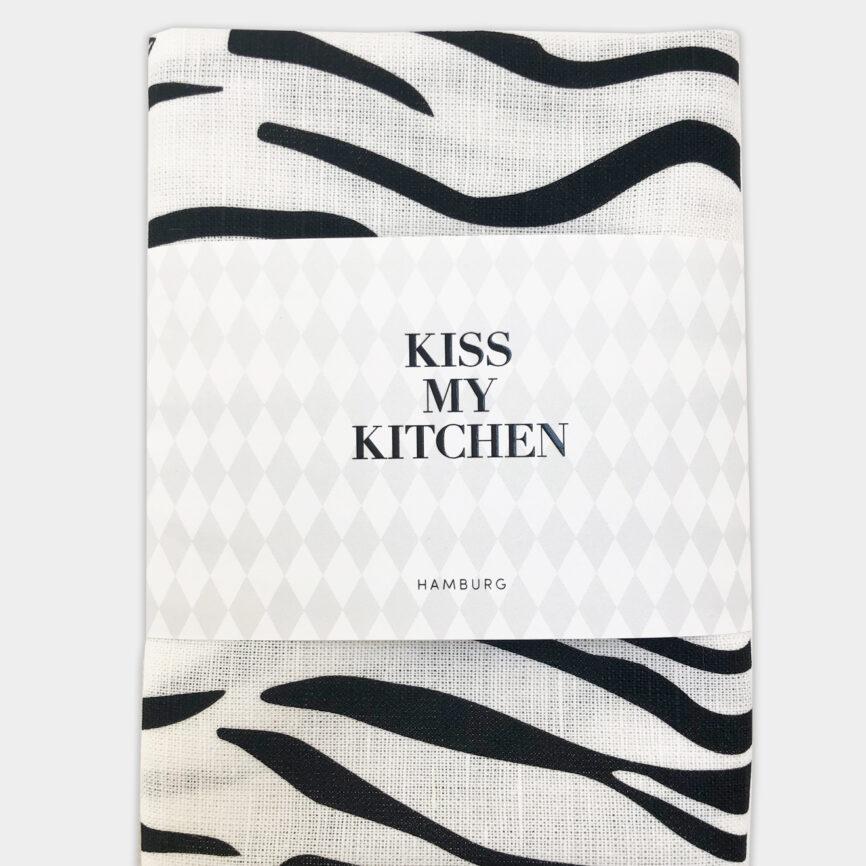 Kiss my Kitchen Geschirrtuch wild white