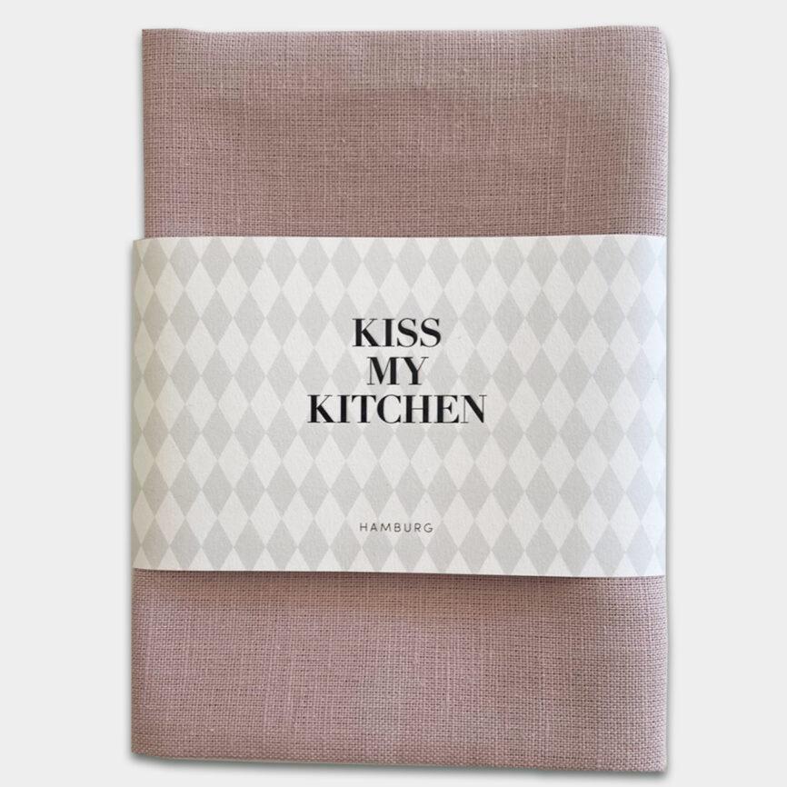 Kiss my Kitchen Geschirrtuch Uni Rosé