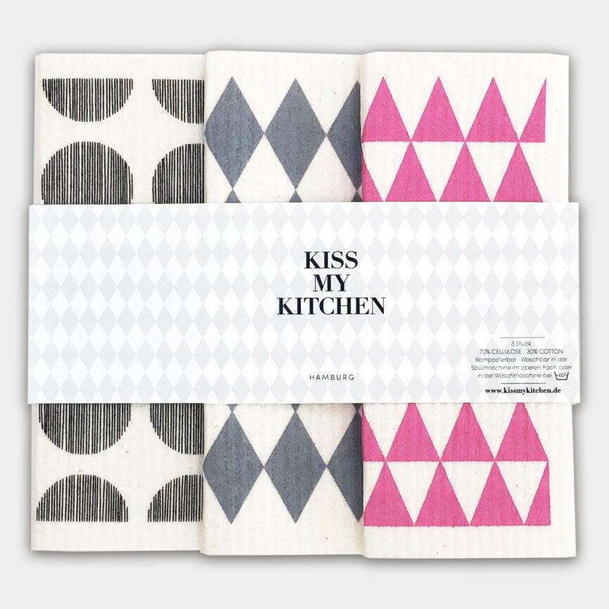 Kiss my Kitchen schwammtuchset Oslo