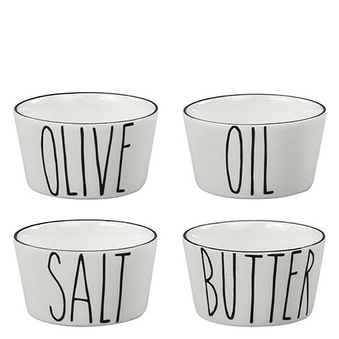 Bastion Collections Schale Oil, Salt Butter und Olive