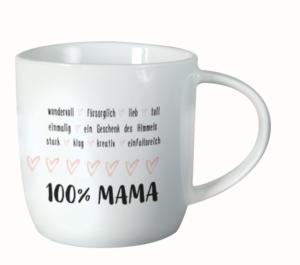 Grafik Werkstatt Tasse 100% mama