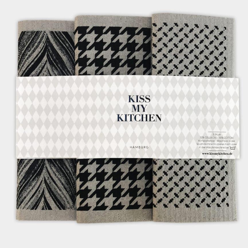 Kiss my Kitchen schwammtuchset london