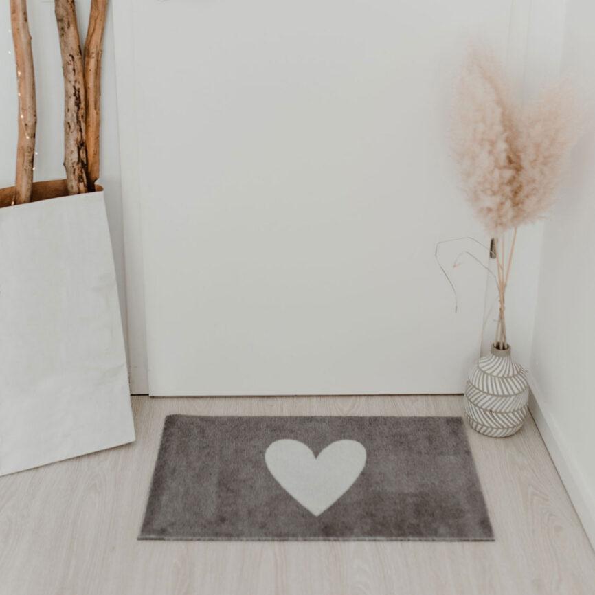 Eulenschnitt Fußmatte Herz