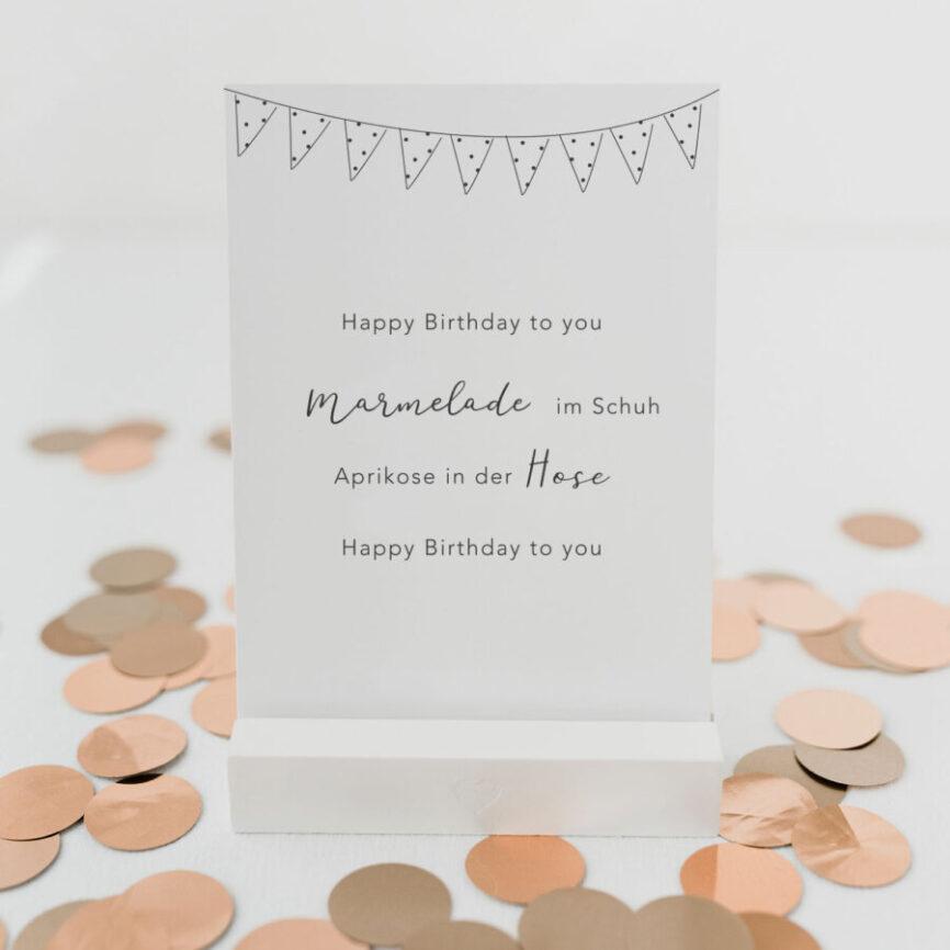 Eulenschnitt Postkarte Happy Birthday