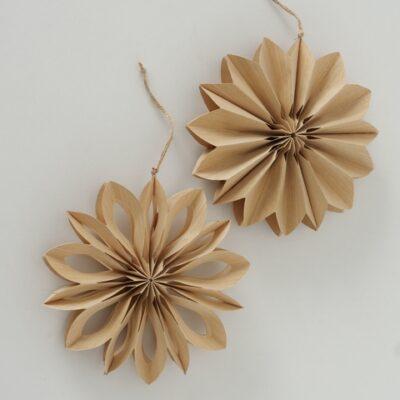 Papierblume natur D40cm