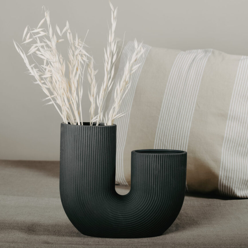 storefactory Vase Stravalla Anthrazit