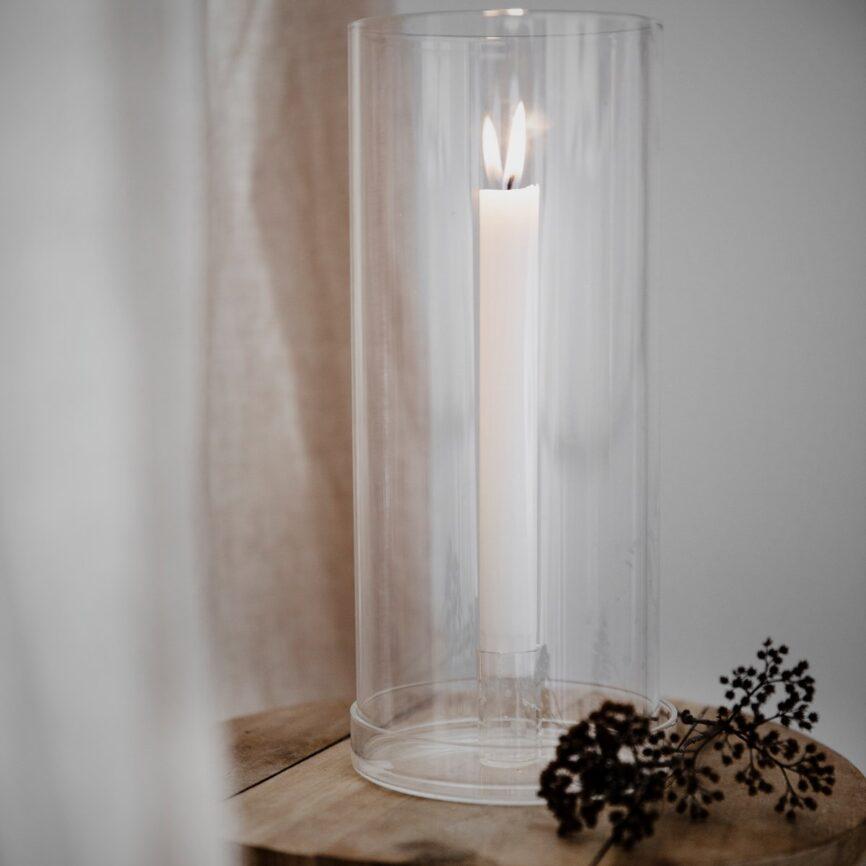 Ernst Kerzenhalter aus Glas für Stabkerzen