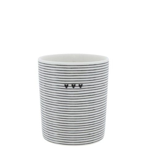 Bastion Collections Mug streifen und herzen
