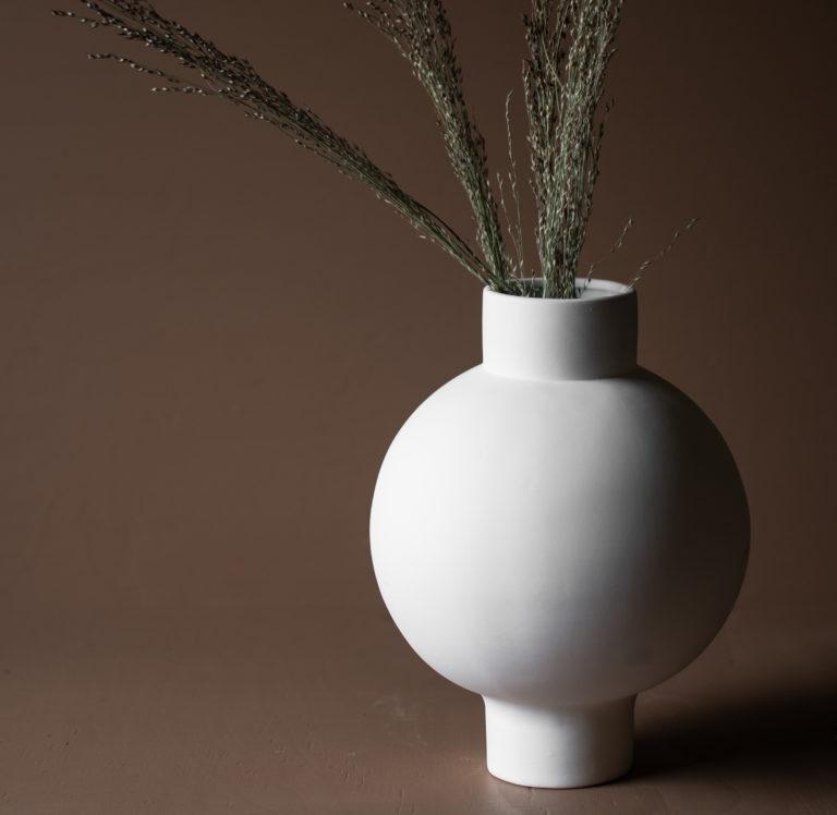 storefactory Vase vik weiß
