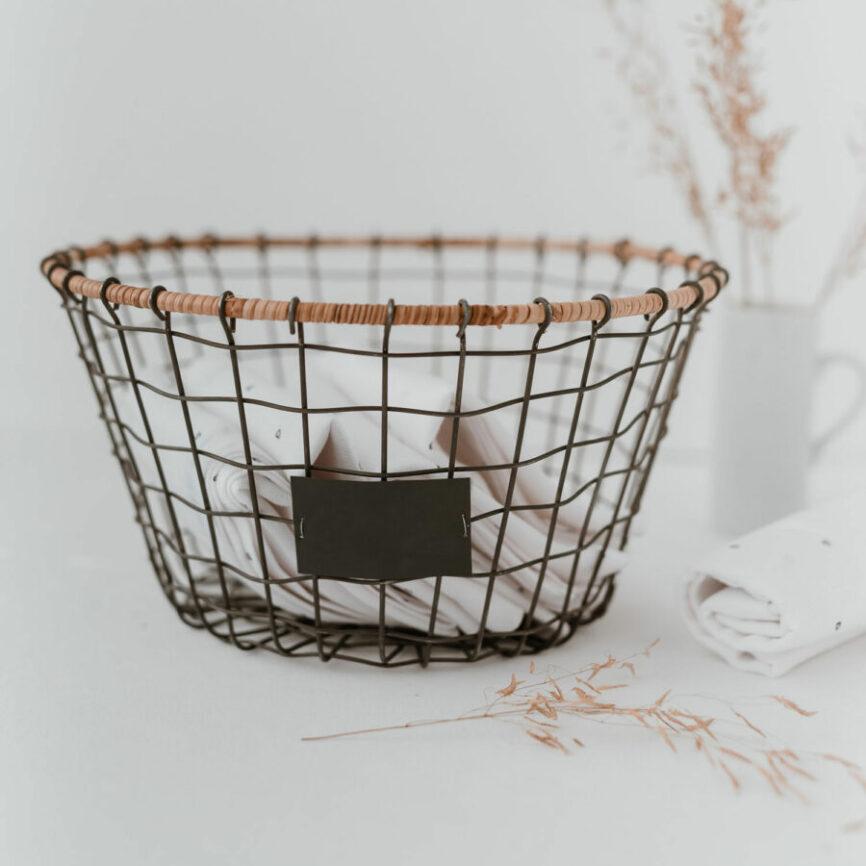 Eulenschnitt Drahtkorb schwarz
