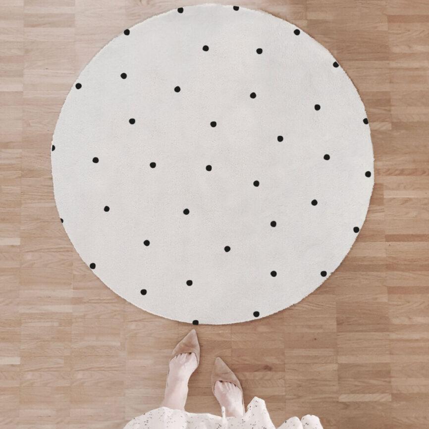Eulenschnitt Fußmatte D100cm punkte rund