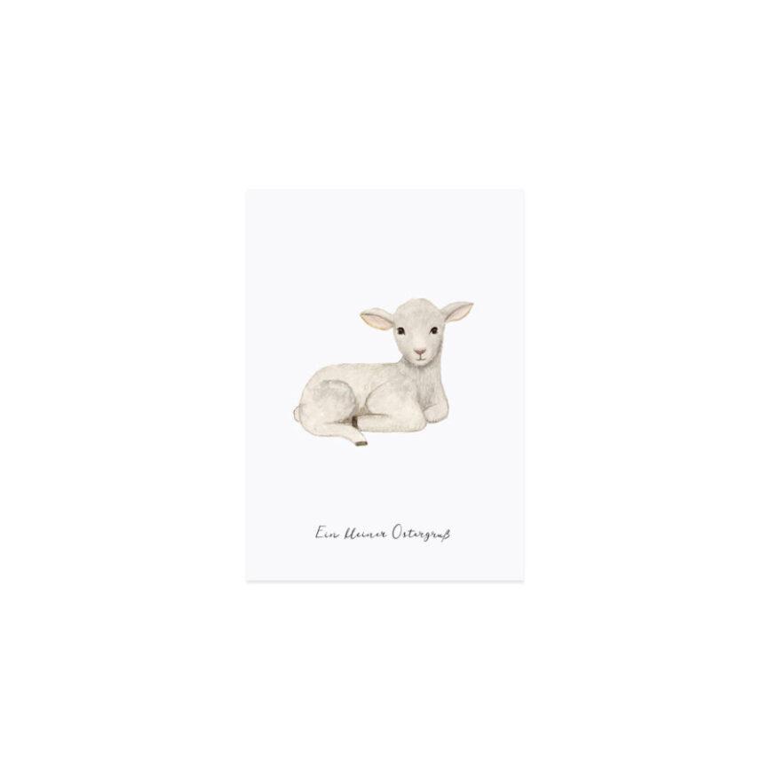 Eulenschnitt Postkarte Schaf