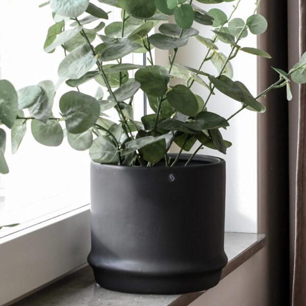 Storefactory Pflanzentopf Maras schwarz