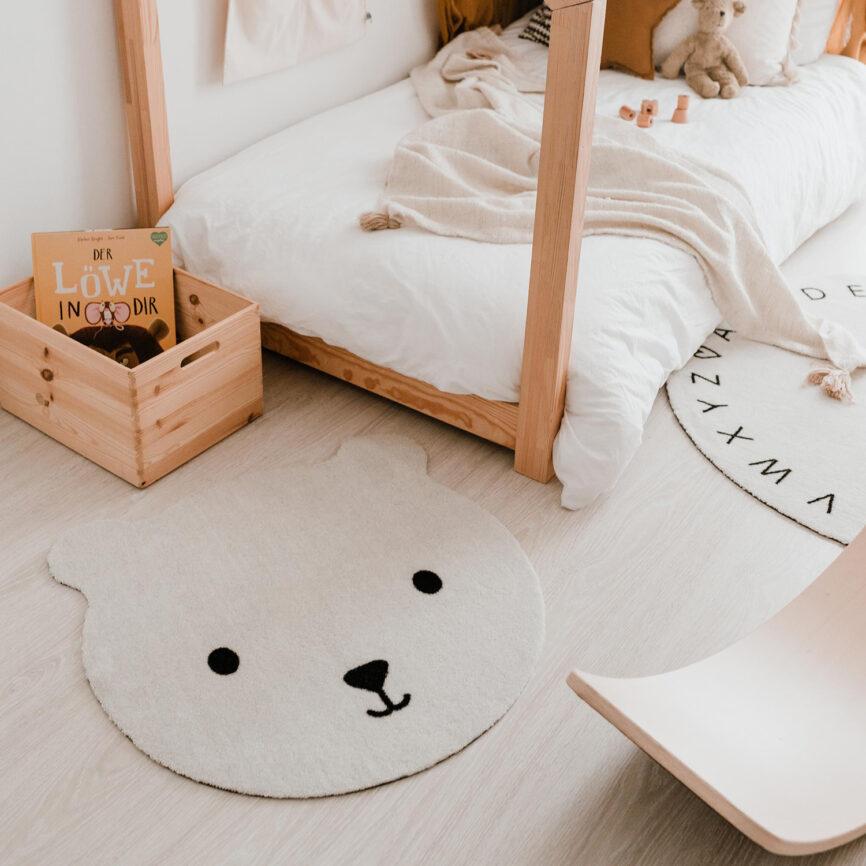 Eulenschnitt Kinderteppich Bär