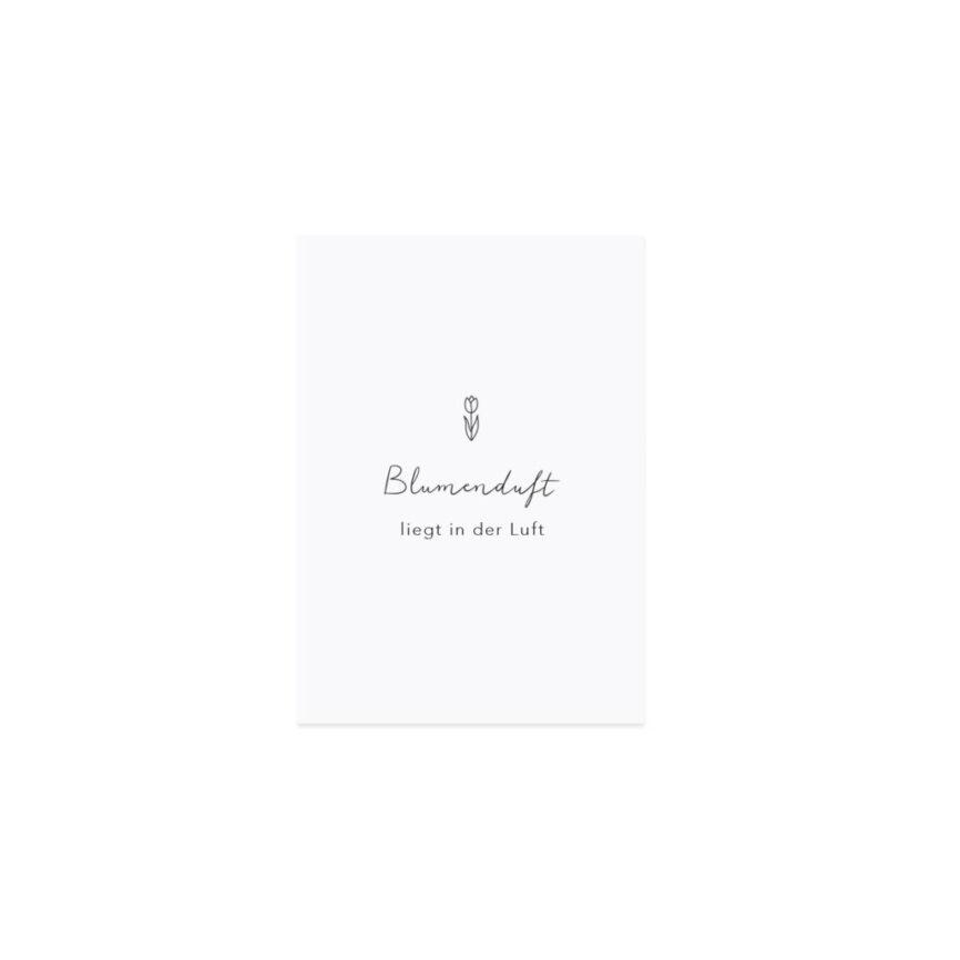Eulenschnitt Postkarte Blumenduft