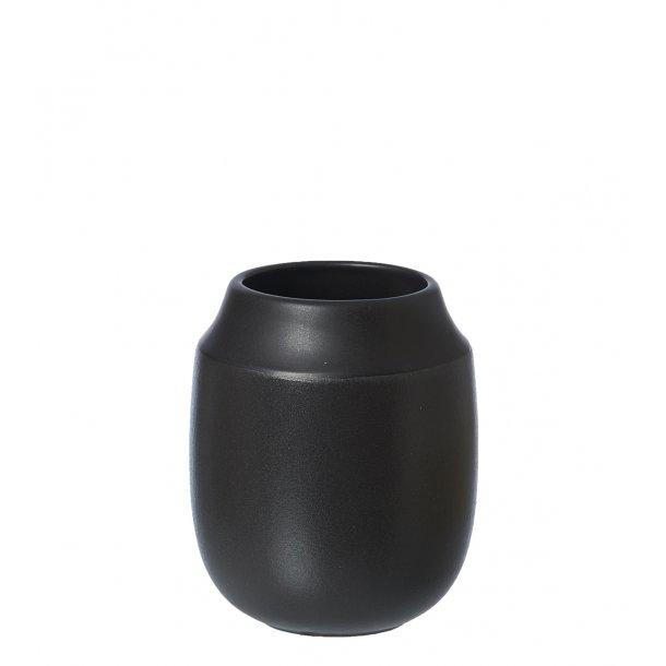 Oohh Collection Vase Aya schwarz H11cm